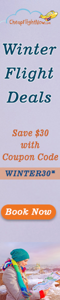 Get $30 off on flights this Winter. Use the Coupon Code WINTER30. Book Now!
