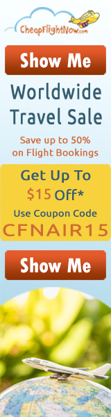Get Flat $15 off on worldwide flights this season. Use the Coupon Code CFNAIR15. Book Now!